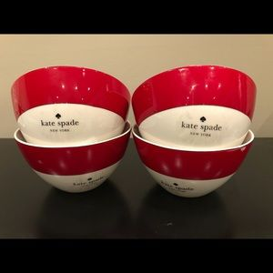 Kate Spade ♠️ Rutherford Circle Red Cereal Bowls